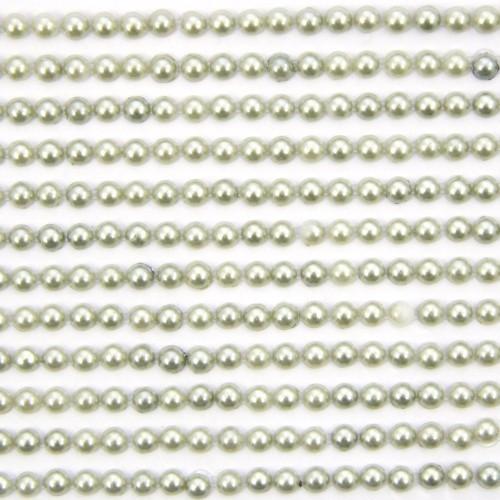 Halbperlen-Bordüren, selbstklebend, Ø5mm, 29 cm, hellgrün, 12Stk