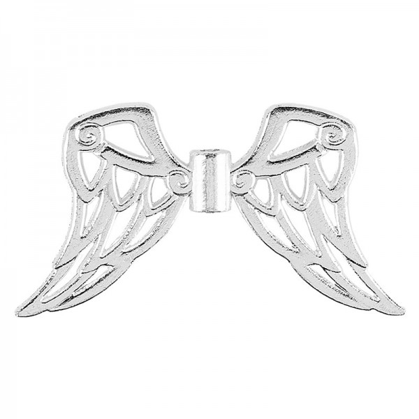 Filigrane Engelsflügel, Design 7, 1,9cm, silber, 30 Stück