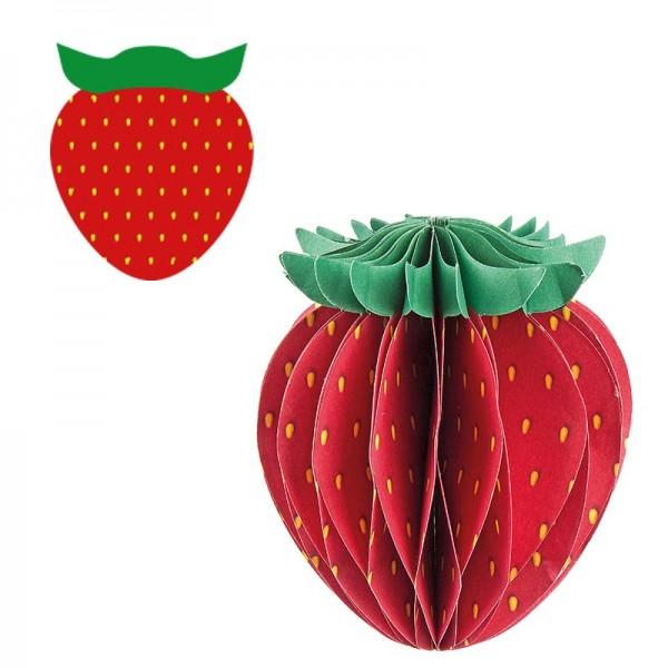 Waben-Stanzteile, Erdbeere, 6,5cm x 7,6cm, 100 Stück