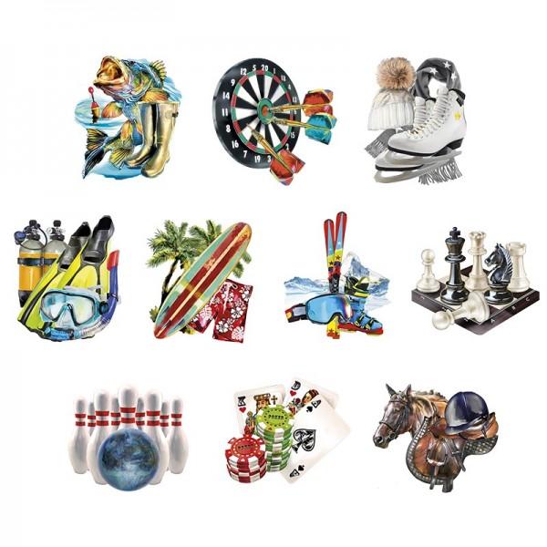 3-D Motive, Sport & Hobby 2, 8-11cm, 10 Motive