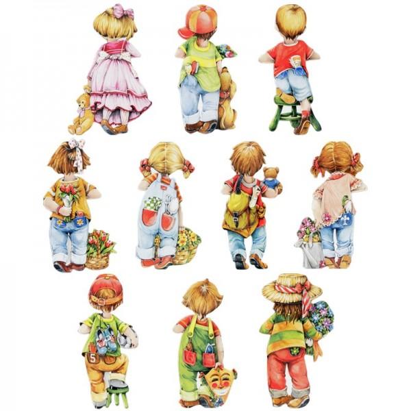 3-D Motive, Jungen & Mädchen, Rückansicht, 10 Motive