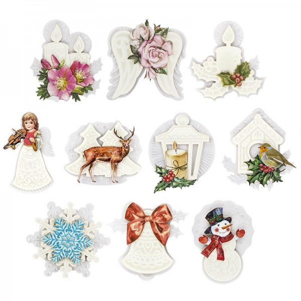 3-D Motive Deluxe, Winterzeit, 9,5-14cm, 10 Motive