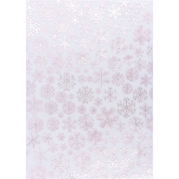 Transparentpapiere, Nova Noblesse 5, mit Top-Prägung & Perlmuttlack, DIN A4, 5 Bogen, rosé