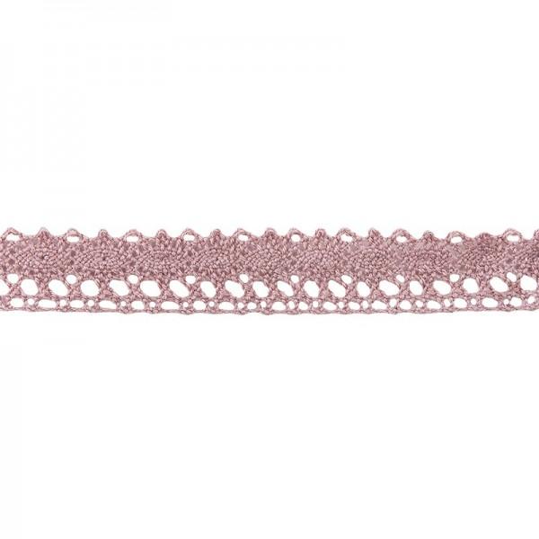 Häkelspitze Design 5, 1,7cm breit, 2m lang, altrosa