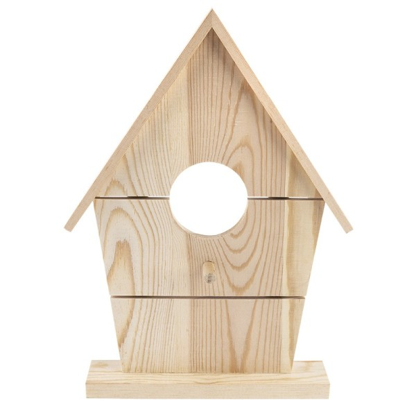 Deko-Vogelhaus aus Holz zum Aufstellen, 25,6cm x 18,5cm x 3,1cm