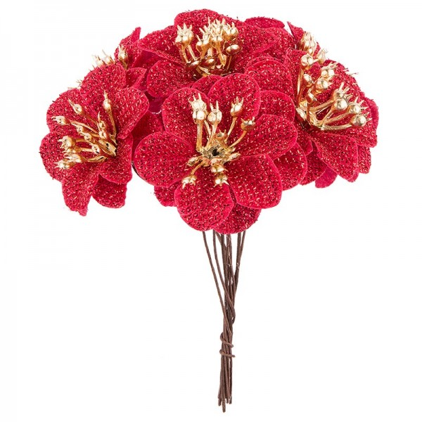 Deko-Blüten Bella, Ø 4cm, rot, 10 Stück