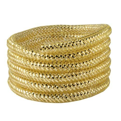 Deko-Netzschlauch, Nylon, 0,8x105cm, gold, 5er Set