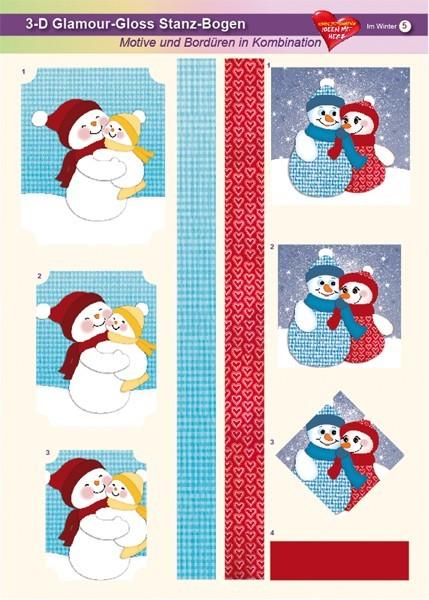 3-D GlamourGloss Bogen, Im Winter, DIN A4, Motiv 5