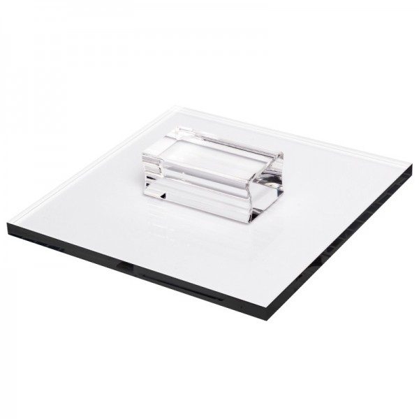 Stempel-Block mit Griff, 16 x 16 x 0,8 cm, transparent