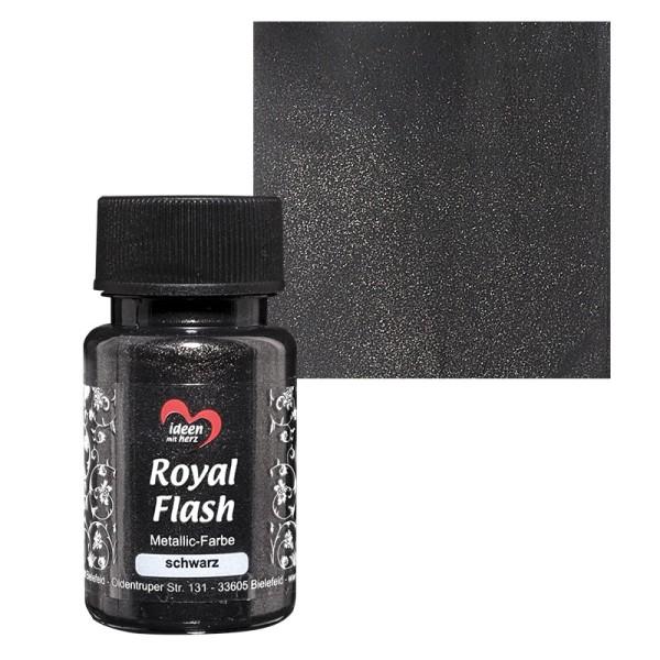 "Metallic-Farbe ""Royal Flash"", schwarz, 50 ml"