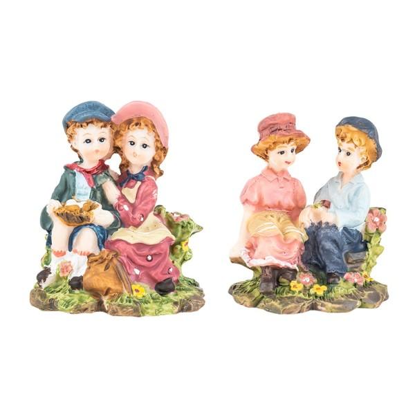 Deko-Kinderpaare, 6,5 cm, 2er Set