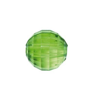 Facetten-Perlen, transparent, Ø6mm, 100 Stück, smaragd