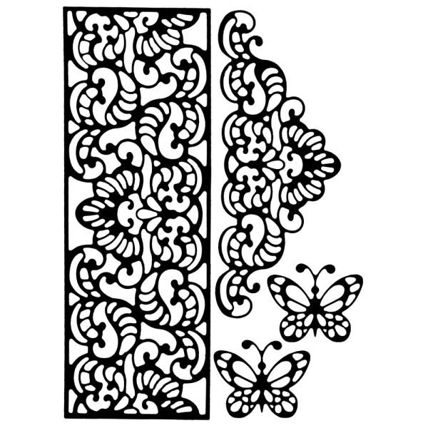Stanzschablonen, Bordüren & Schmetterlinge, 4 Stück