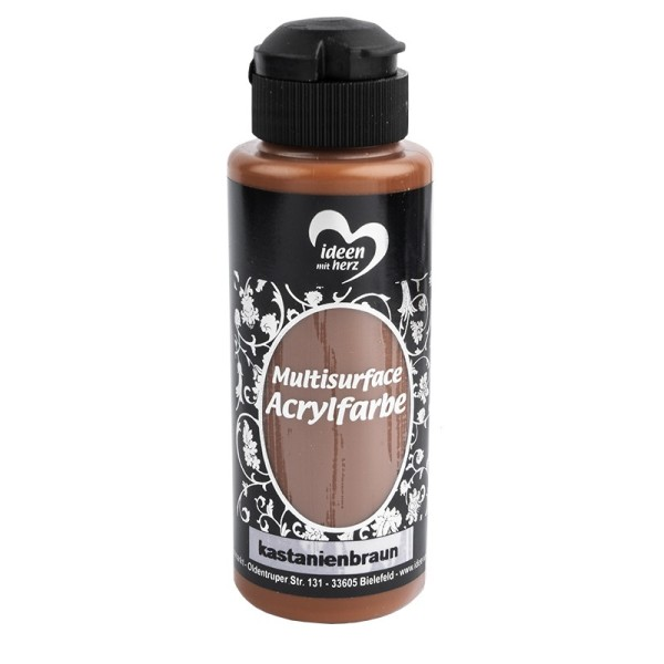 "Acrylfarbe ""Multisurface"", kastanienbraun, 120ml"
