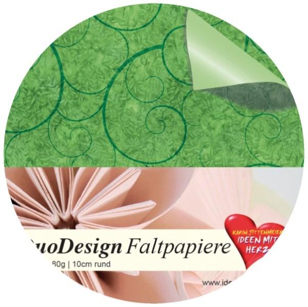 DuoDesign Faltpapier, rund, 10 cm Ø, 60 Blatt