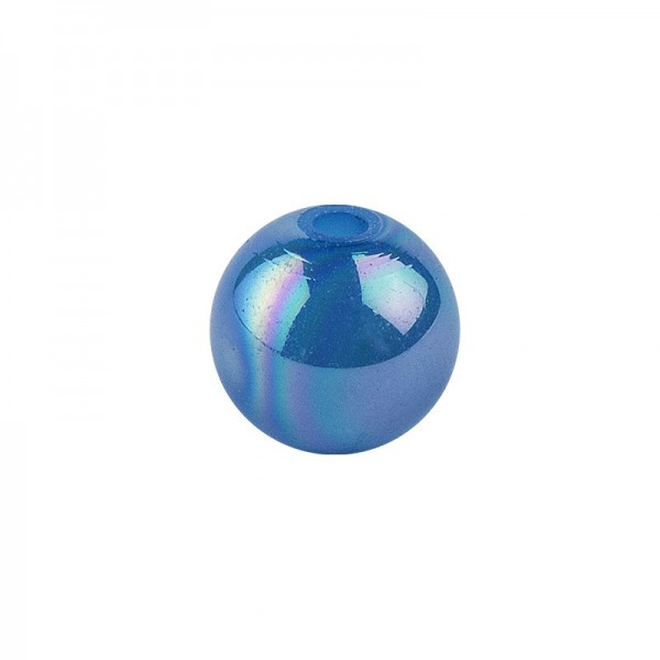 Perlen, irisierend, Ø 4mm, blau-irisierend, 200 Stk.