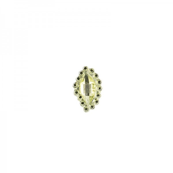 Ornament-Glitzersteine, 50 Stück, Design 7, lindgrün