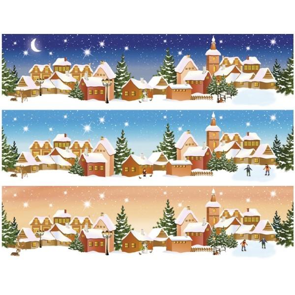 """Zauberfolien """"Winterzeit"""", Schrumpffolien für Ø10cm, 8,5 cm hoch, 6 Stück"""