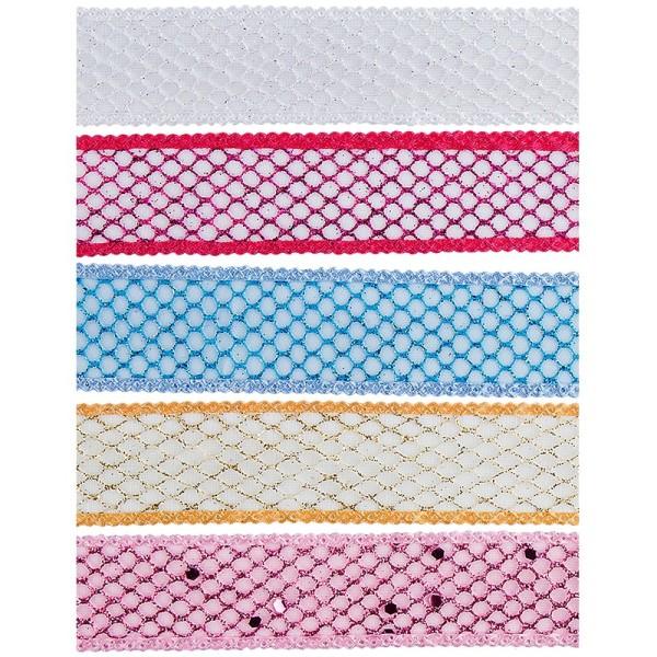 """Zierbänder """"Manu"""", 1m lang, 2,5cm breit, 5 Stück"""