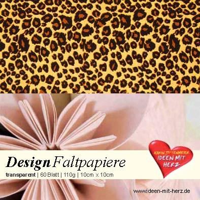 Design Faltpapier, transparent, 10cm x 10cm, 60 Blatt