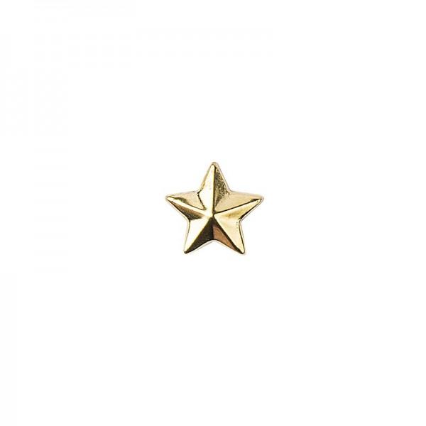 Hot-Fix Stern-Nieten zum Aufbügeln, Ø 10mm, gold, 100 Stück
