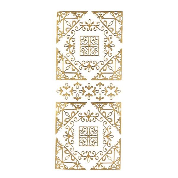 Sticker, Ecken, Ornamente,  gold