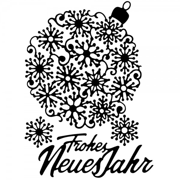 Stanzschablonen, Weihnachtskugel 3, 4 Stück