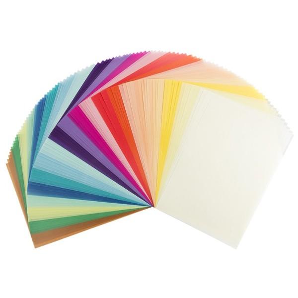 Transparentpapiere, DIN A4, 20 verschiedene Farben, 130g/m², 100 Stück