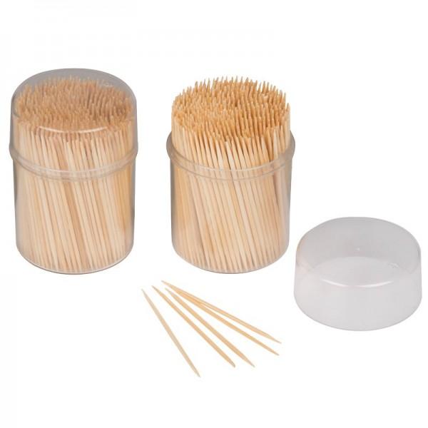 Cocktail-Spieße/Zahnstocher aus Bambus, 2x 500 Stück
