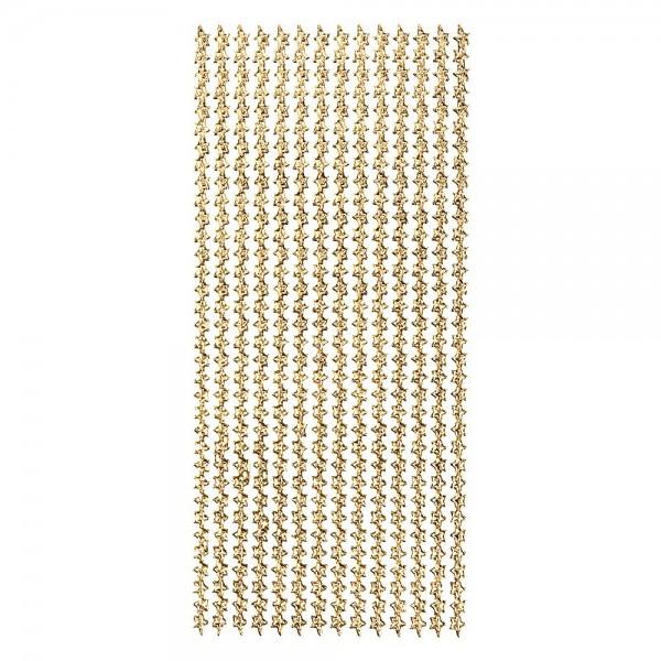 Microglitter-Sticker, Sternen-Bordüre, gold
