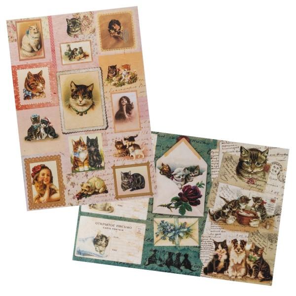 Reispapiere, Nostalgie 9, DIN A4, 2 Designs