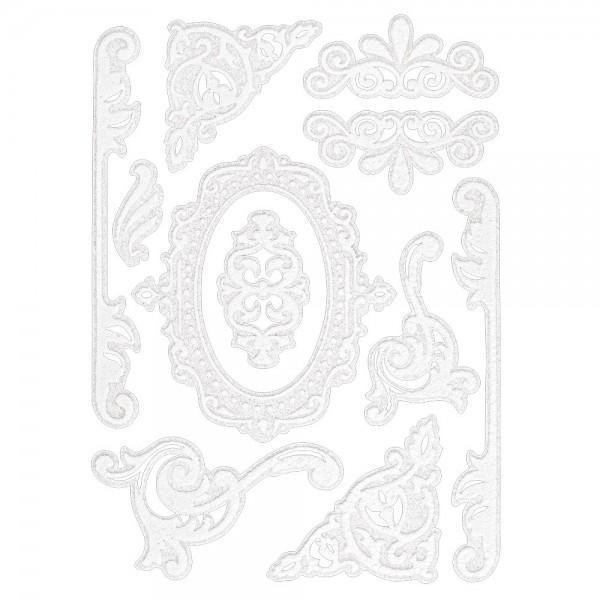 Velours-Stickerbogen, 15cm x 11cm, Ornamentik, Design 12
