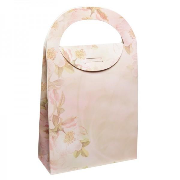 Geschenktasche Kirschblüte, 4,5 x 11,5 x 20 cm, rosa