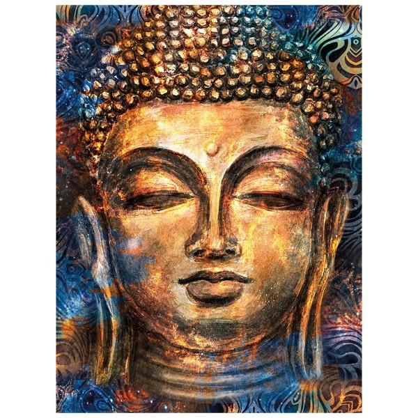 5D Diamond Painting, Buddha, 25cm x 35cm, Motivleinwand, runde Steinchen, inkl. Werkzeug