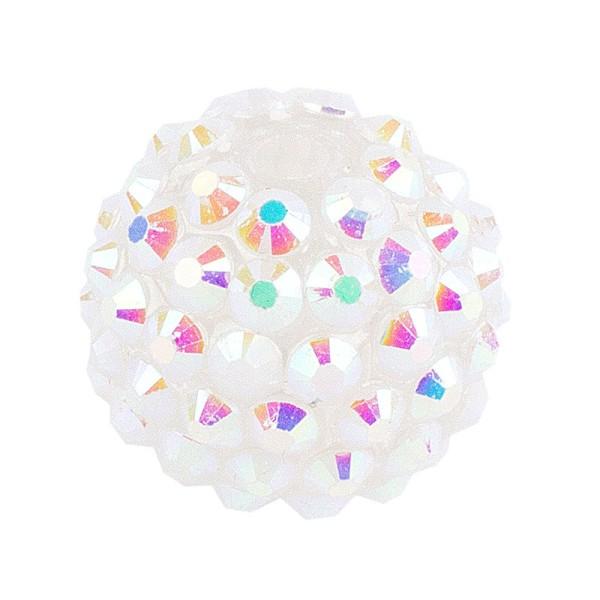 Kristall-Perlen, Ø 14mm, weiß-irisierend, 10 Stück