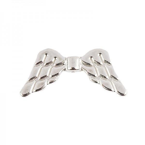 Engelsflügel, Design 1, 3cm, silber, 15 Stück