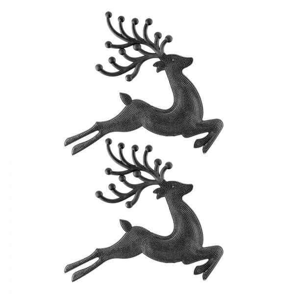 Deko-Hirsche 2, Rohlinge, 24,5cm x 21cm x 0,8cm, 2 Stück