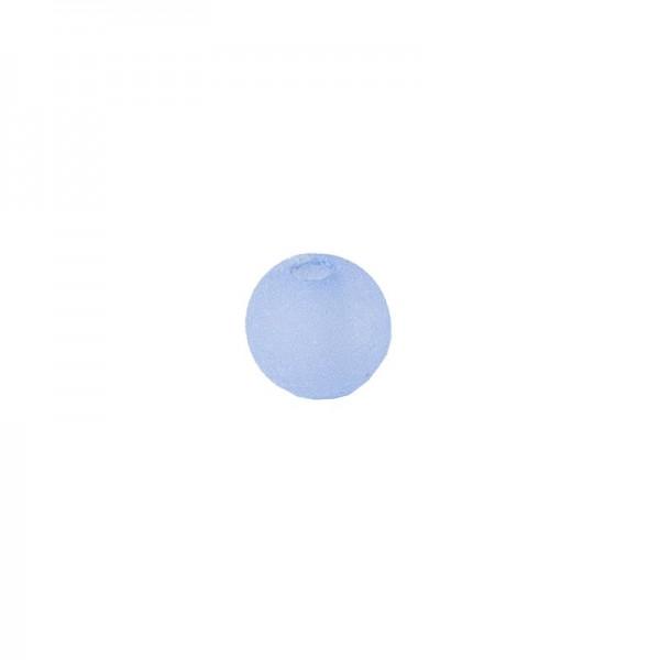 Perlen, gefrostet, Ø 4mm, 200 Stück, blau
