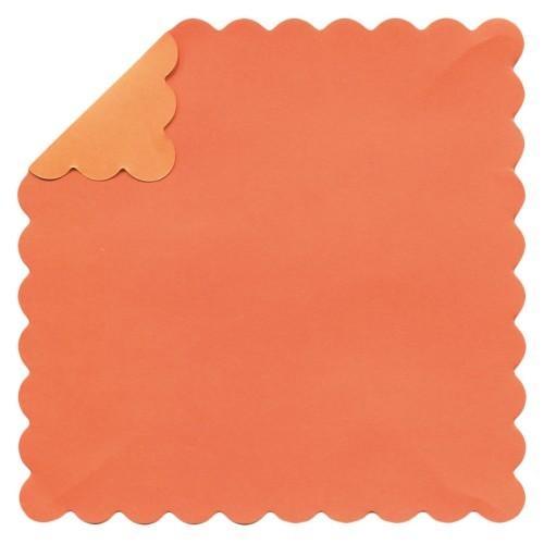 DuoColor Stanz-Faltpapiere, 10 x 10 cm, orange, Wellenrand, 100 Blatt