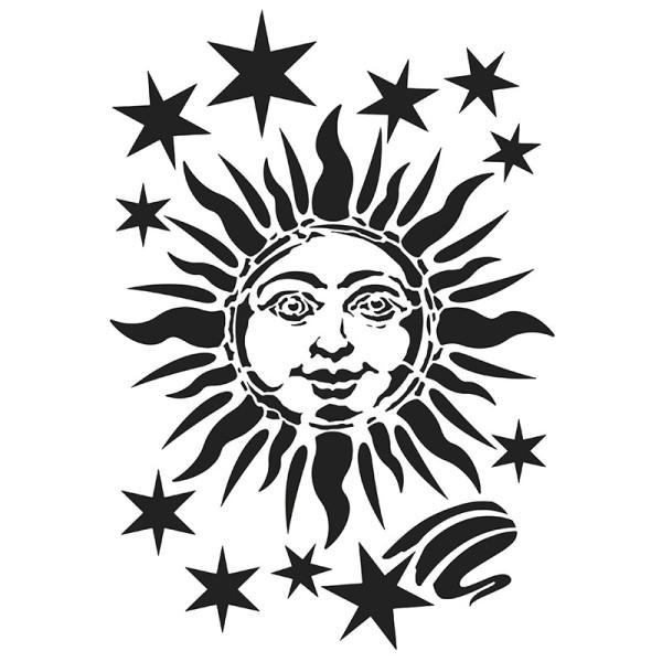 Laser-Kunststoff-Schablone, DIN A4, Sonne 2