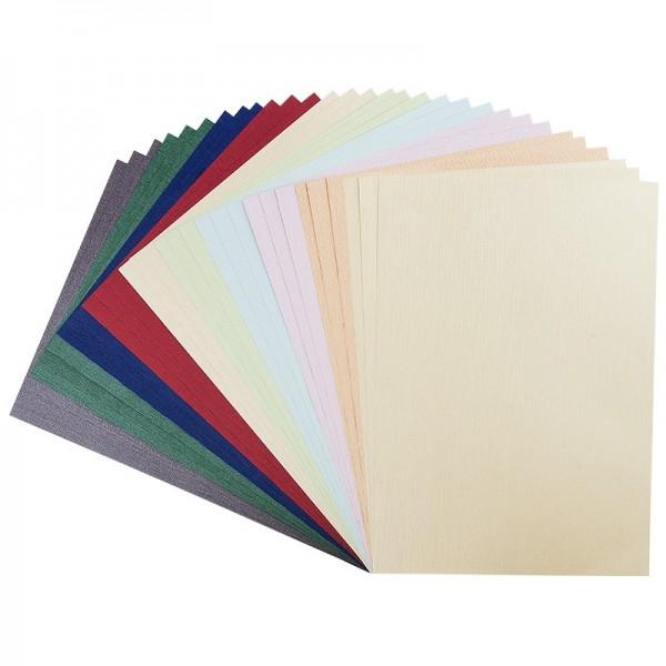 """Präge-Karton """"Athen"""", DIN A4, 9 verschiedene Farben, 30 Bogen"""