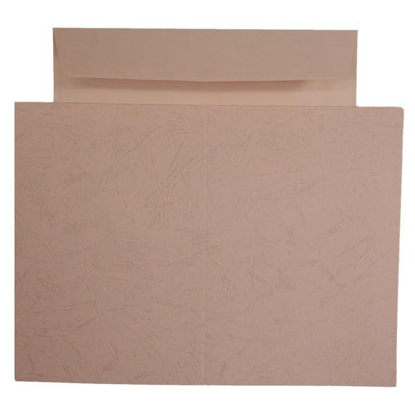 10er Grußkarten-Set, Lederprägung, C6, inkl. Umschläge, rosa