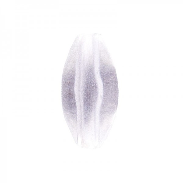 DuoColor-Perlen, oval, 12mm, klar/klar, 20 Stück