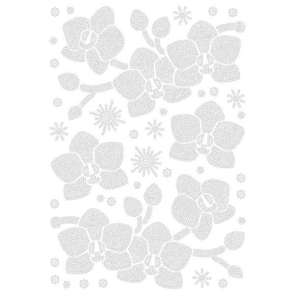 Bügelstrass-Design, DIN A4, klar, Orchideen