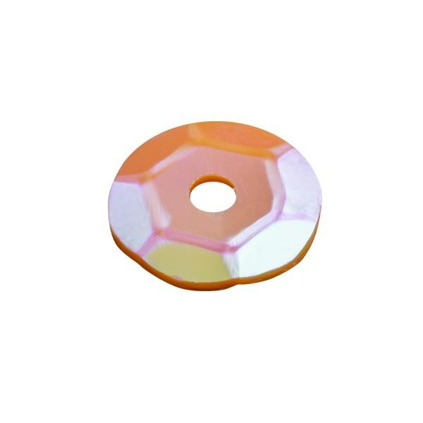 Pailletten, irisierend, 15 g, Ø6 mm, orange