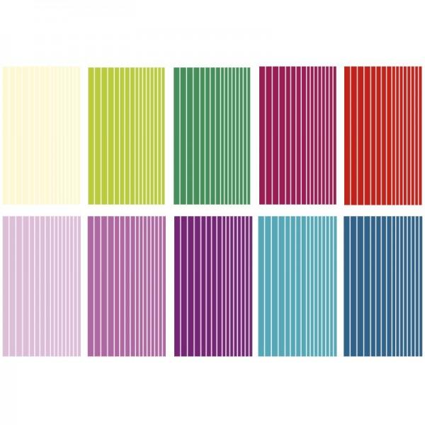 Glimmer-Relief-Sticker, Linien, 11,5x20cm, 10 Stück
