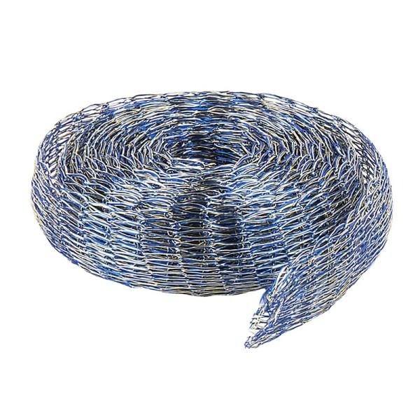 Titan-Mesh Collier-Band, 1 cm x 1 m, blau/silber meliert