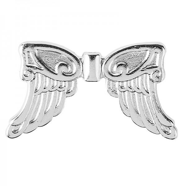 Engelsflügel, Design 5, 1,9cm, silber, 30 Stück