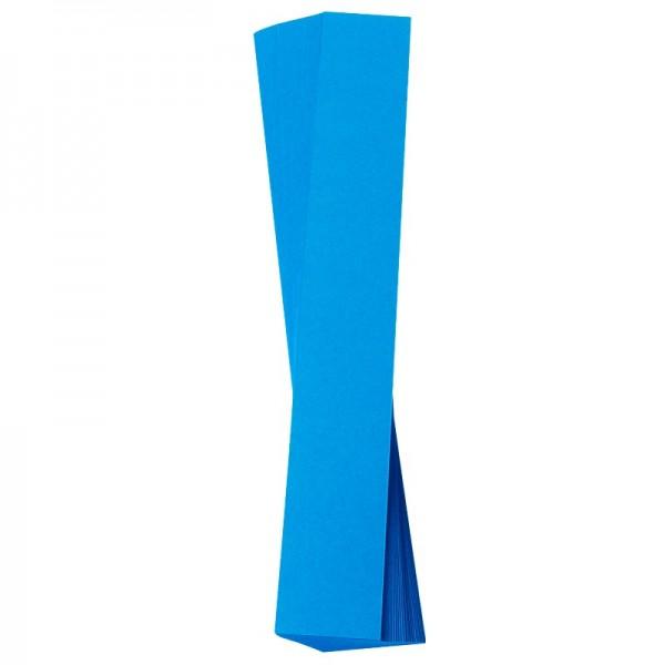 Papierstreifen, 4 x 30 cm, 120 g/m², blau, 50 Stück
