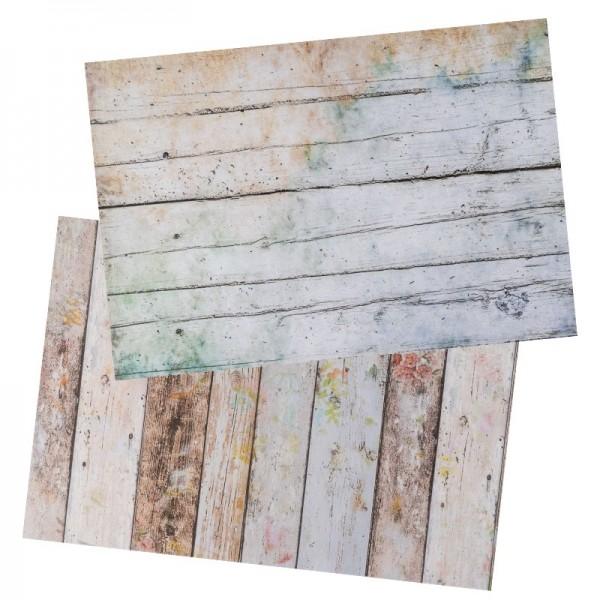 Reispapiere, Shabby Chic, DIN A4, 2 Designs